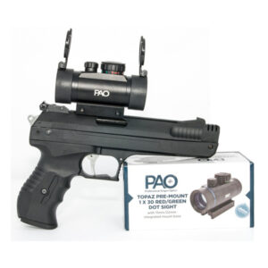 ome Who We Are Products Contact LEGISLATION Video Links Press Releases AIRFORCEONE DESERT FALCON DUO DUAL CALIBRE SINGLE STROKE PNEUMATIC PISTOL (WITH PAO Red/Green Dot Sight)